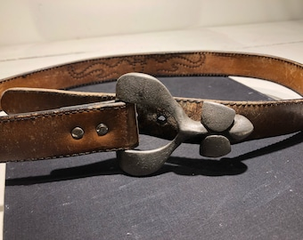 Vintage leather belt western