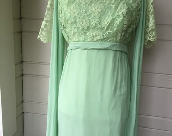 Vintage prom dress with cape