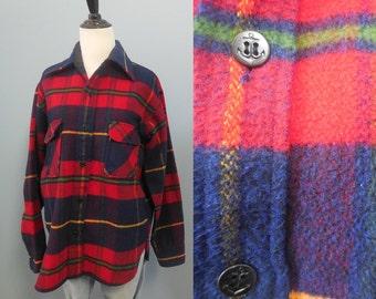 Vintage GRUNGE flannel shirt PLAID FLANNEL outdoorsman lumberjack shirt mens womens xs small medium