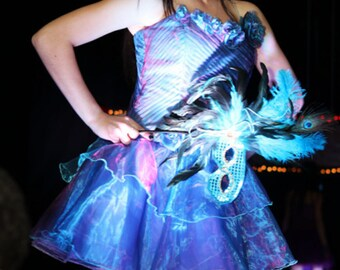 One Of A Kind Rainbow Vampire Party Dress