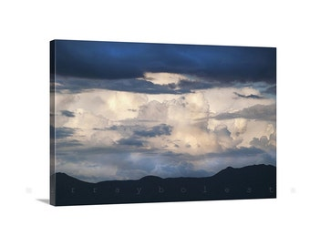 Sky and Clouds Art, Storm Photography, Arizona Gift, Indigo Wall Decor, Stormy Sky Picture, Arizona Monsoon Picture, Thunderstorm Art