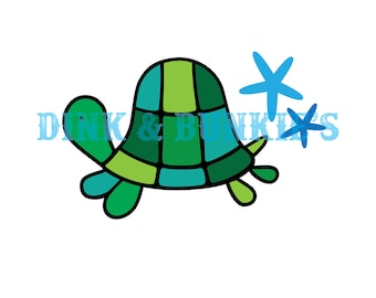 Turtle SVG, DXF Die Cutter Template