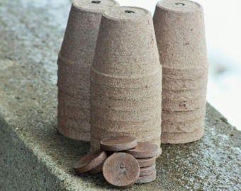 Biodegradable Peat Pots, Seed Starter Pots, Peat Pots, Three inch peat pots, Growing Pots, Gardening Pots, Plant Pots, Seedling pots