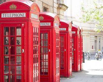 "London photography, London art print, London gallery art, large art print - ""Pillar Box Red"""