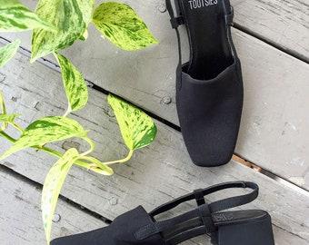 90s vintage block heel mule sandal