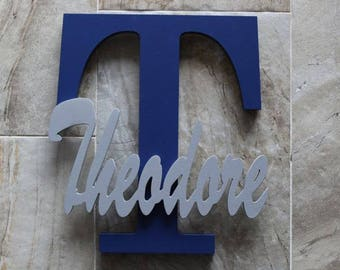 """Custom Wall Letter, 14"""" Letter With Name, Custom Wall Names, Wood Letter for Wall, Capital Letter, Wall Décor, Wooden Letter, Letter"""