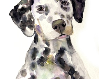 Custom pet portrait watercolor Original watercolor painting custom dog portrait from photo dog Painting Memorial Art Custom Gift for her