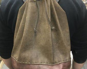 Shoulder bag, messenger bag, school bag, medieval bag, cthulhu bag, larps bag, larp bag, leather bag