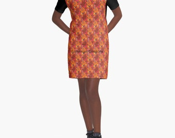 Groovy Flowers T-Shirt Dress, 6 Sizes Available!