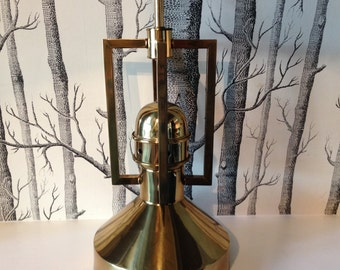 Vintage Gold Brass Nautical Lamp Gold Table Lamp