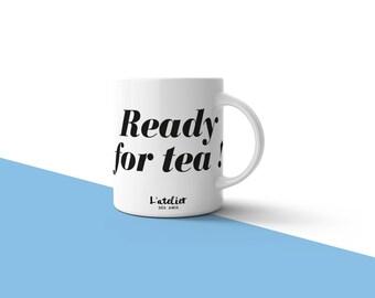 M14T mug Ready for tea!, mug for tea, mug for coffee, mug ceramic, mug to offer, tea and coffee, coffee to offer, mug ceramic,
