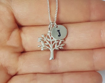 Tree Necklace, Family Tree Necklace, Sterling Silver, Tree of Life Necklace, Birthday Gift, Bridesmaid Gift, Shipping from USA