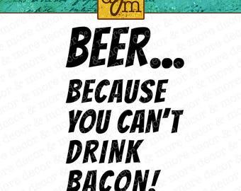 Beer SVG File, SVG Files for Cricut, Beer Mug SVG File, Beer and Bacon Svg File, Beer Shirt Svg, Gifts for Him, Commercial Use Svg File