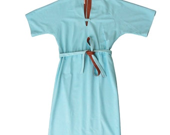 1970s Blue and Brown Willie of California Dress