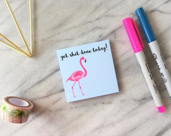 Cute Sticky Notes Flamingo Sticky Notes Funny Sticky Notes Cute Notepad Flamingo Notepad Small Notepad Cute Stationery 50 Sheet Notes
