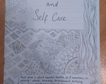 Mental Health and Self-care zine