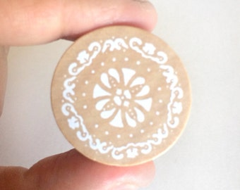 lace rubber stamp - stationey stamp - wedding stamp - wooden stamp - cardmaking stamp - scrapbooking stamp - packaging stamp - vintage style