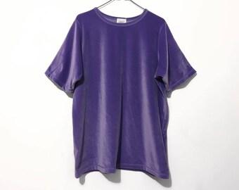 Lavender Velvet T Shirt