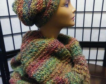 Scarf and hat. Oufet knit.FREE SHIPING