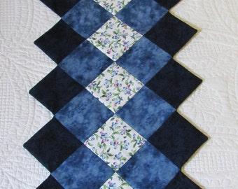 Blueberry Quilted Table Runner