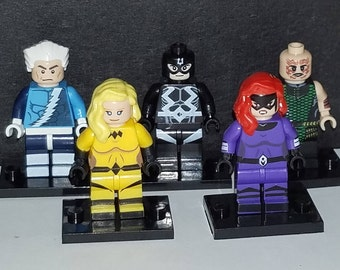 Inhumans Set Of 5 Custom Marvel Comics Minifigs Black Bolt Medusa Karnak Crystal Quicksilver Building Block Toy