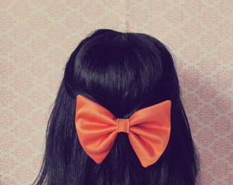 Pumpkin Orange Hair Bow - Autumn, Fall Hair Bow, Perfect Gift and Fall Fashion Hair Accessory