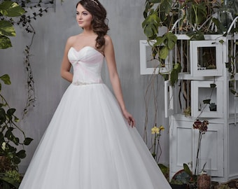 Wedding dress wedding dresses wedding dress BONNIE princess dress ruffle strapless ivory white
