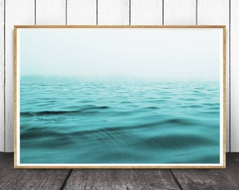 Beach Decor, Beach Wall Art, Printable Beach Art, Coastal Decor, Beach Photography, Ocean Print, Ocean Waves Print, Ocean Waves Print, Ocean