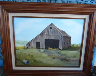 Vintage Oil Painting / Farmscape
