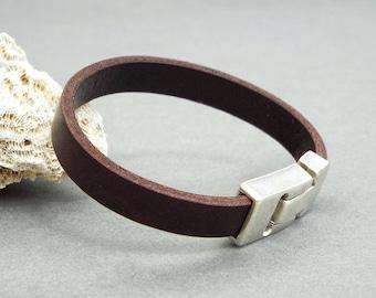 Mens Leather Bracelet, Boyfriend Gift, Anniversary Gift, Strap Bracelet, Husband Gift