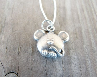 Mouse Necklace - Mouse Pendant - Silver Mouse - Animal Jewelry - Pet Memorial - Mouse Jewelry