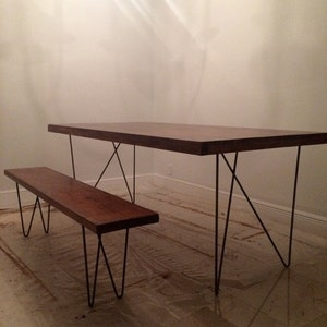 Pair 28 W Solid 7 16 Steel Table Legs With Durable