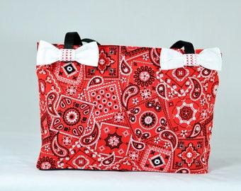 Rockabilly bag - Rockabilly fashion - Purse - Rockabilly purse - Rockabilly - Bag for women - Bag for girls - Bandana - Red bandana