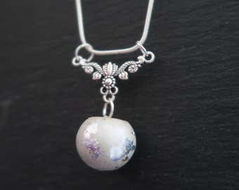 Unusual jewellery, concrete, round sphere necklaces, modern fashion, contemporary design, gifts for her, silver pendants, birthday gift