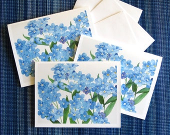 forget me nots blank card