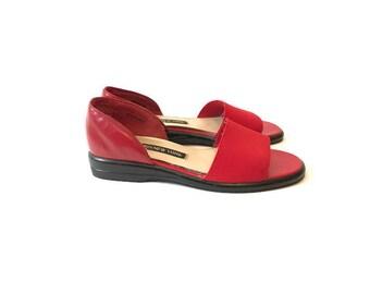 Vintage 90s Red Slides