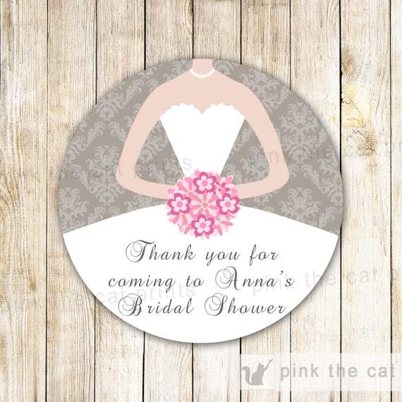 Kleid Etiketten Bridal Shower Geschenk gefallen Etiketten