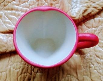 Custom Hand Glazed Heart Mug Customized Baby Reveal Marriage Proposal Surprise Bridesmaid Maid of Honor Going to be a Grandma Grandpa Mug