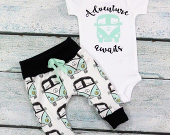 baby boy home coming set/adventure awaits/baby girl home coming set/ gender neutral outfit/organic cotton