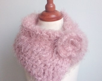 Knitted scarf, Knit scarf, Knitted scarves, bulky scarf, Crochet scarf, chunky crochet scarf, button scarf