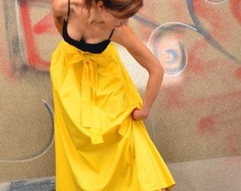 Long Cotton Skirt/ Maxi Skirt with Ribbon Belt