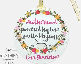 Personalized Gift-Customized Gift–Mother Gift-Mom Gift–Mother's Day Gift–Gift For Mom-Gift For Wife-Gift For Her-Glass Ornament