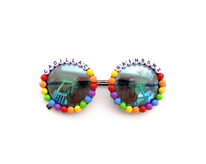 """Phish Halley's Comet """"Cadillac Rainbows"""" decorated sunglasses by Baba Cool 