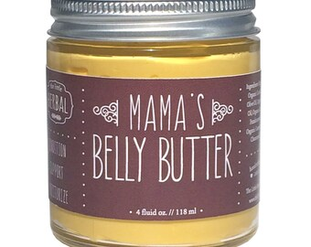 Belly Butter, Belly Balm, Pregnant Belly, Pregnancy, Organic, Mama's Belly Butter