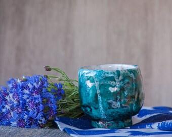 Raku tea bowl - Green tea bowl - Japanese Bowl - Ceramic bowl - White ceramic bowl - Handmade bowl