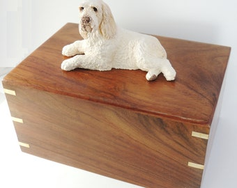Italian Spinone Dog Wood Cremation Urn , FREE Custom Painting