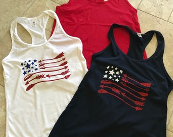 American Flag Women's Tank Tops - several designs to chose from!