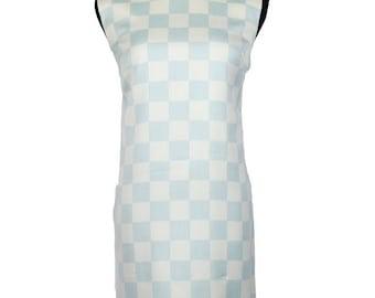 Gianni Versace Powder Blue Check Dress