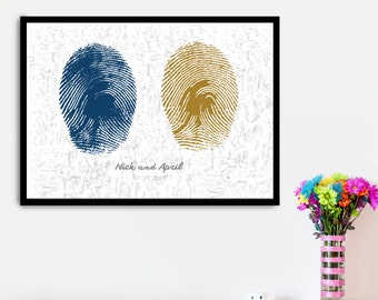 Fingerprint Wedding Guestbook Framable Poster, Finger Print Guestbook, Guestbook Alternative, Guestbook Wedding, Guest book Sign, Ideas