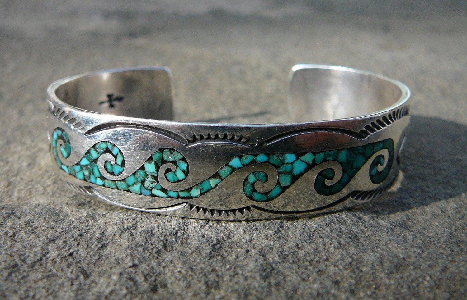 sterling and turquoise hand morgan bracelet henry village products cast natural silver navajo by handcast